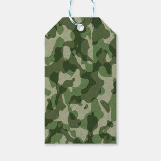 Grüne Tundra-Camouflage Geschenkanhänger