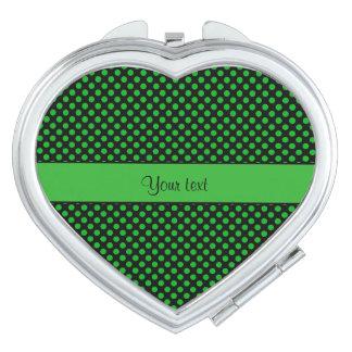 Grüne Tupfen Taschenspiegel
