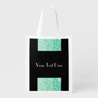 Grüne Tupfen u. Stellen-wiederverwendbare Tasche Wiederverwendbare Einkaufstasche
