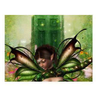 Grüne Tür Postkarte