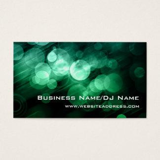 Grüne u. blaue Bokeh (Musik oder DJ) Visitenkarten