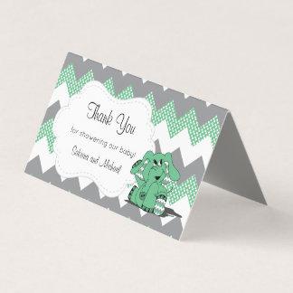 Grüne u. graue Zickzack Süßigkeits-Deckel des Visitenkarten