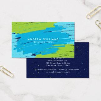 Grüne und blaue vibrierende moderne mutige visitenkarte
