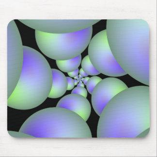 Grüne und lila Bereich-Spirale Mousepad