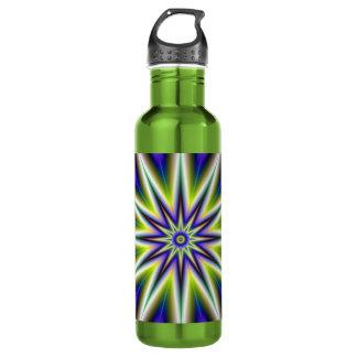 Grüne und lila Zeit-Stern-Flasche Edelstahlflasche