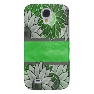 Grüne und weiße Blumen Galaxy S4 Hülle