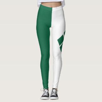 Grüne und weiße Gamaschen Leggings