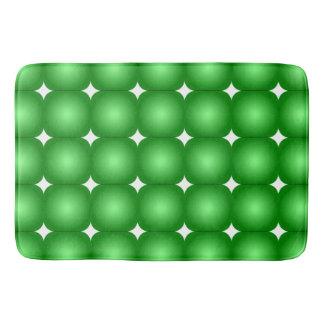 Grüne und weiße, runde Ränder Badematte