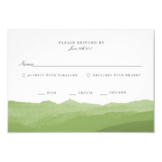 Grüne Watercolor-Berg-UAWG Karte 8,9 X 12,7 Cm Einladungskarte