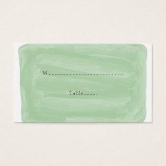 Grüne Watercolor-Hochzeits-Platzkarten Visitenkarte