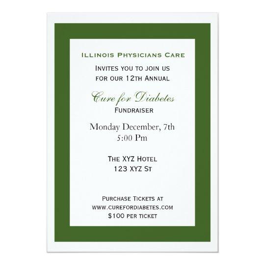 grüne weiße noble UnternehmensParty Einladung