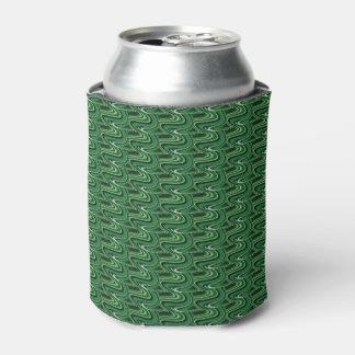 Grüne Wellen-Bier-Hülse/kann cooler