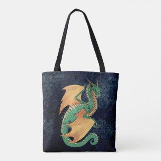 Grüne Wyverndrache-Pfirsichflügel Tasche