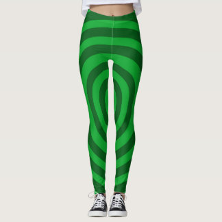 Grüne Ziel-Gamaschen Leggings