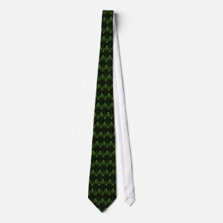 Grüner alien-Kopf-Neonentwurf Bedruckte Krawatte