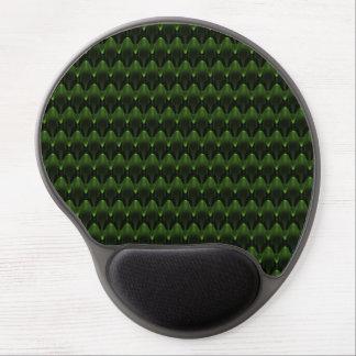 Grüner alien-Kopf-Neonentwurf Gel Mousepad