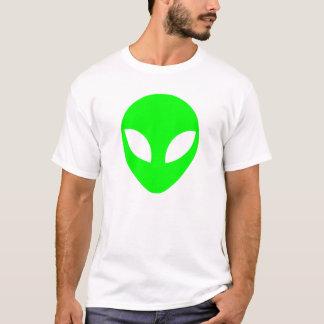 Grüner alien-Kopf T-Shirt