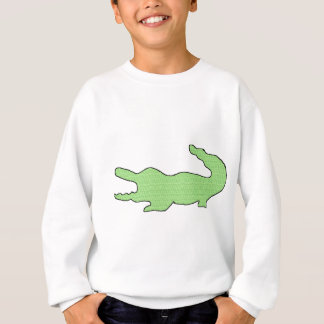 Grüner Alligator Sweatshirt