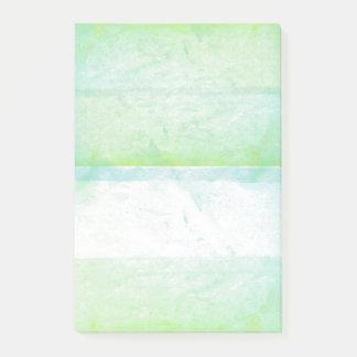 Grüner Aquarell-Farben-Bildschirmausdruck Post-it Klebezettel