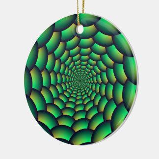 Grüner Ball-Spiralen-Tunnel Keramik Ornament