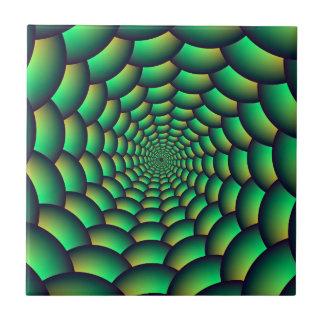 Grüner Ball-Spiralen-Tunnel Keramikfliese