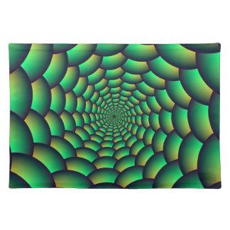 Grüner Ball-Spiralen-Tunnel Tischset
