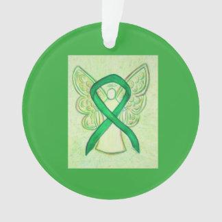 Grüner Bewusstseins-Band-Engel kundengebundene Ornament