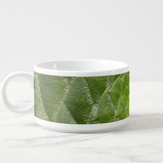 grüner Blatmuster-Spiralenentwurf Kleine Suppentasse