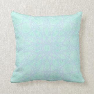 grüner blauer Kissen