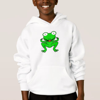 Grüner Cartoonfrosch Hoodie