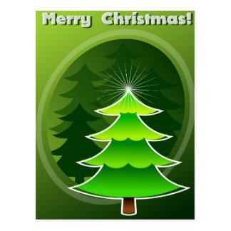 Grüner christmass Baum Postkarte