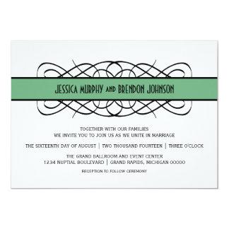 Grüner Deko blühen Hochzeit einladen 12,7 X 17,8 Cm Einladungskarte