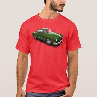 Grüner Deutscher Ghia auf rotem T - Shirt