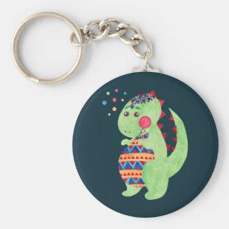 Grüner Dino Schlüsselanhänger