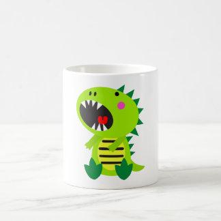 Grüner Dinosaurier RAWR Kaffeetasse