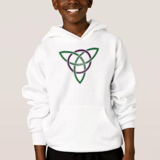 Grüner Dreiheits-Knoten scherzt Hoodie