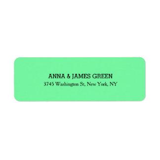 Grüner einzigartiger kreativer sauberer stilvoller kleiner adressaufkleber