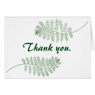 Grüner Farn danken Ihnen die Wedding Karte