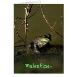 Grüner Frosch-lustige Valentinsgruß-Karte Karte
