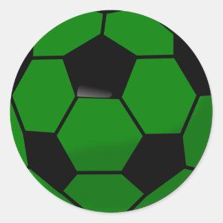 Grüner Fußball Runder Aufkleber