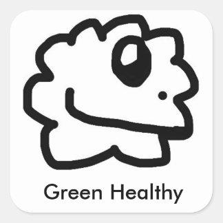 Grüner gesunder Aufkleber