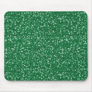Grüner Glitter Mauspads