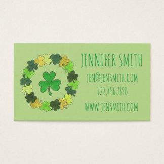 Grüner glücklicher irischer visitenkarte