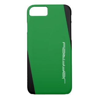 grüner iPhone 7 Fall und schwärzen einen Streifen iPhone 7 Hülle