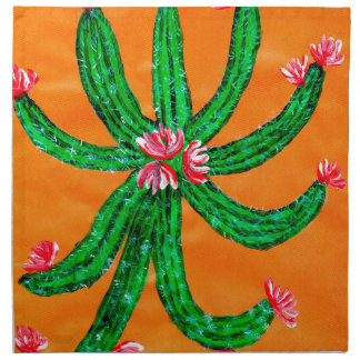 Grüner Kaktus 2 Serviette