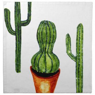 Grüner Kaktus 4 Stoffserviette