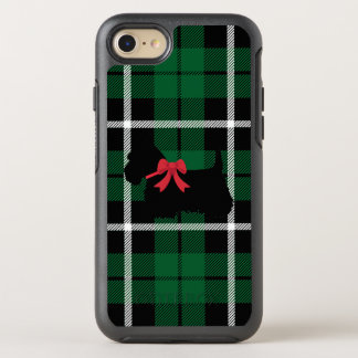 Grüner karierter schottischer Terrier Kelly mit OtterBox Symmetry iPhone 8/7 Hülle