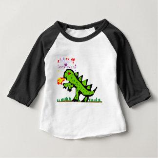 Grüner kleiner Drache Baby T-shirt
