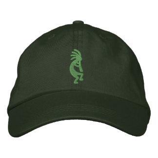 Grüner Kokopelli gestickter Hut