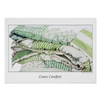 Grüner Komfort Poster